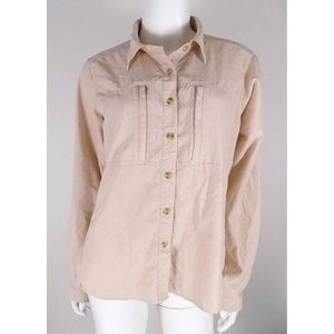 ExOfficio Pink Button Front Vented Shirt Hiking